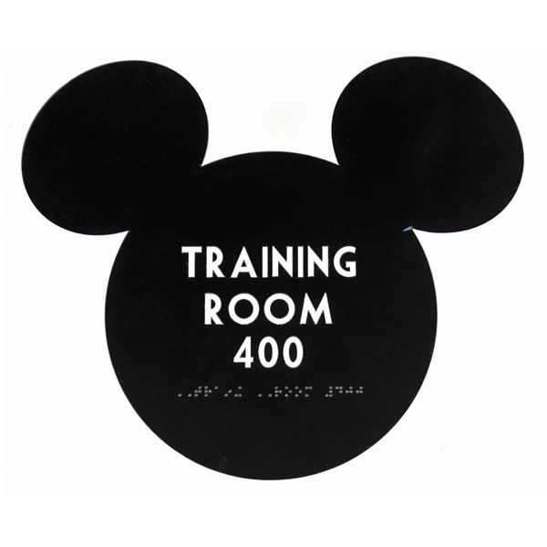 Disney Training Room Sign.