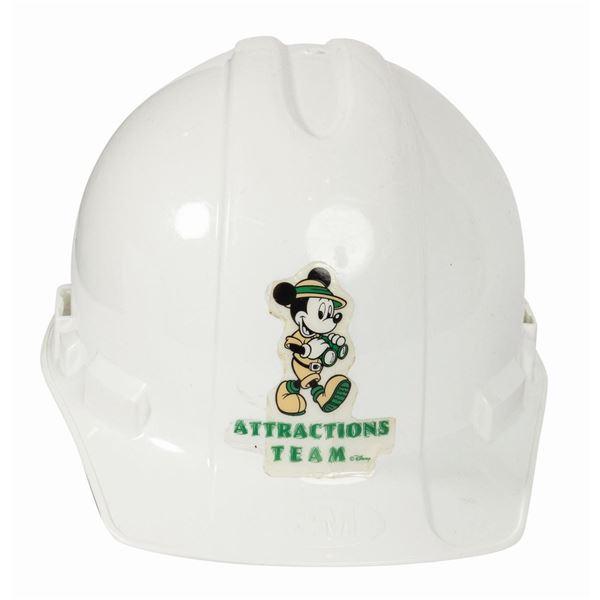 Disney Attractions Team Safety Hard Hat.
