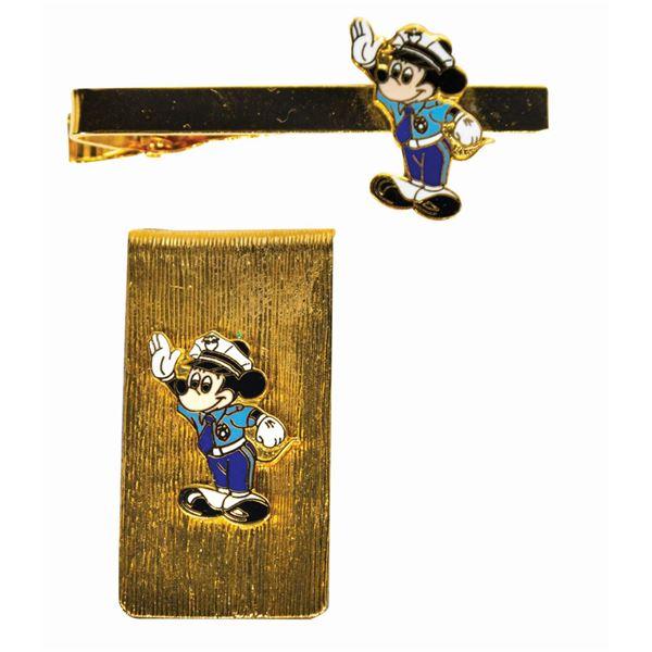 Disneyland Security Guard Tie Bar and Money Clip.