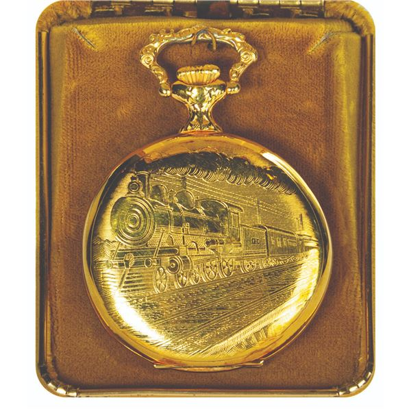 Disneyland Railroad 15-Year Service Award Pocket Watch.