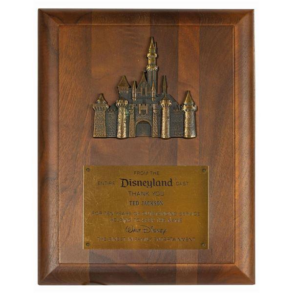 Disneyland 10 Year Service Award.