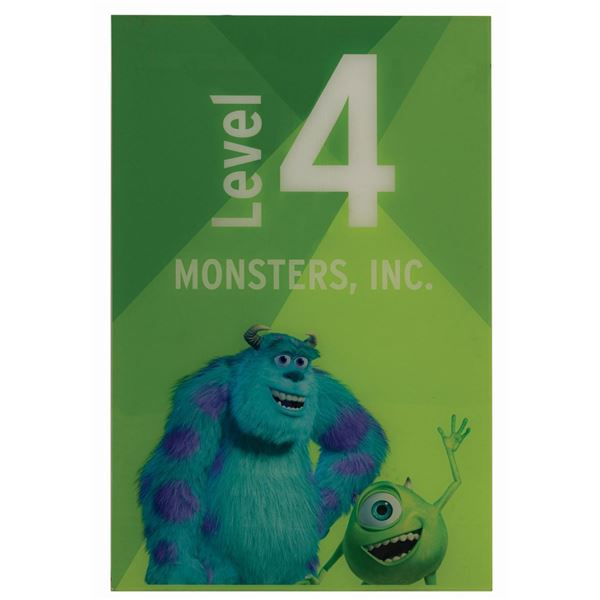 Monsters, Inc. Disneyland Parking Lot Sign.