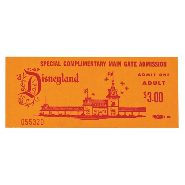 Special Complimentary Adult Main Gate Admission Ticket.