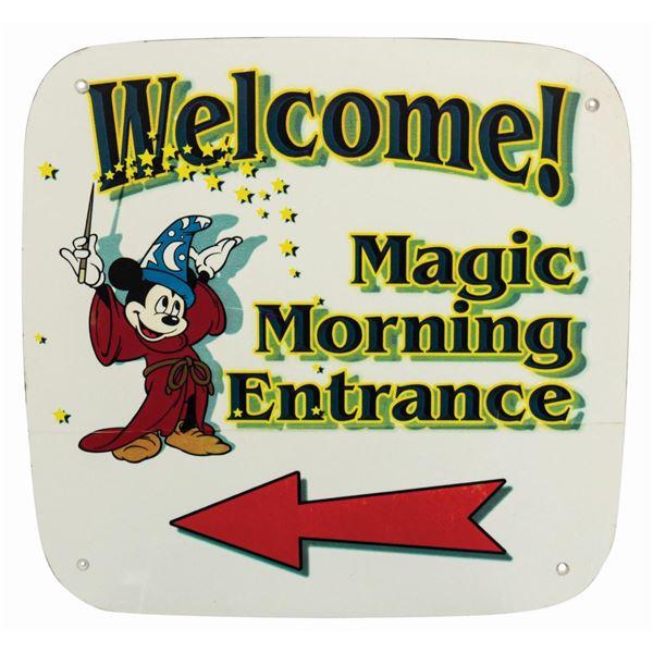 Magic Mornings Entrance Sign.