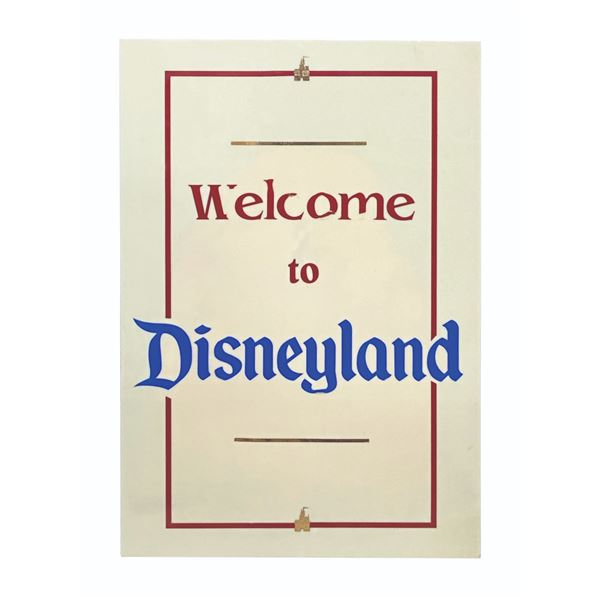 """""""Welcome to Disneyland"""" Entrance Sign."""