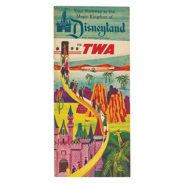 Disneyland TWA Travel Brochure.