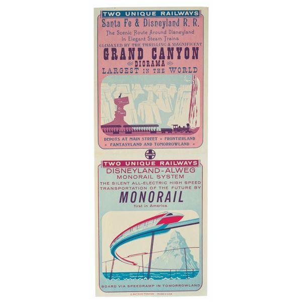 Grand Canyon Diorama and Monorail Handbill.