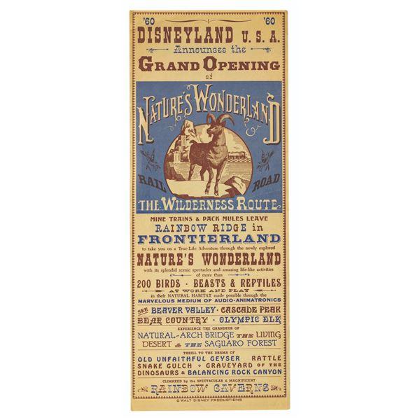 Nature's Wonderland Grand Opening Handbill.