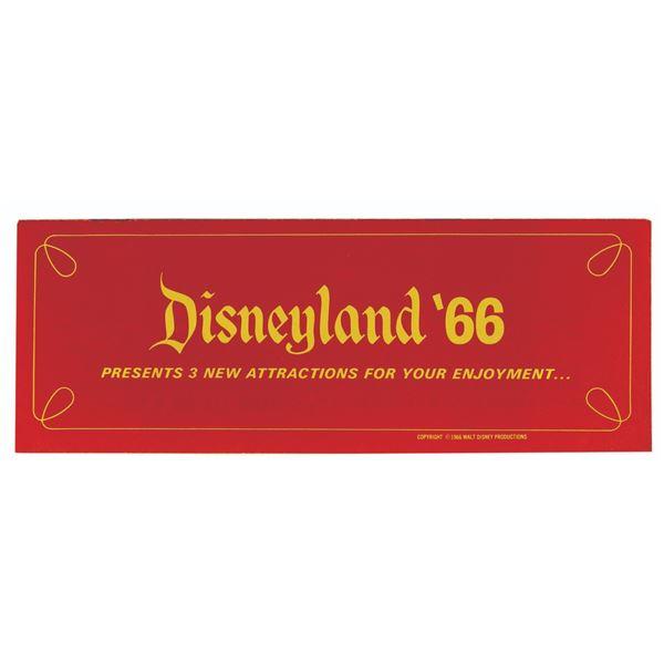 Disneyland '66 New Attractions Brochure.