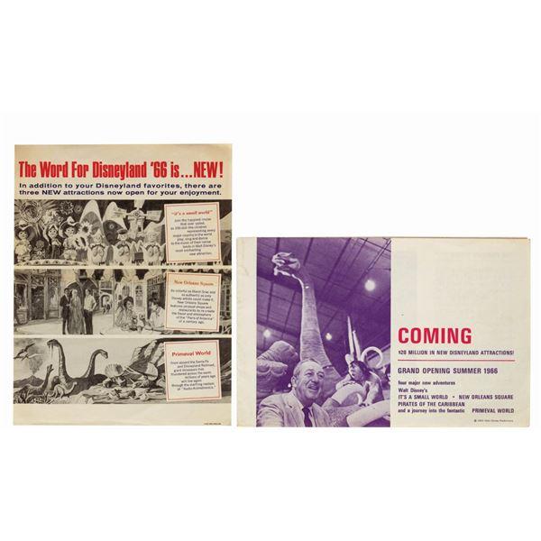 1966 Coming Attractions Brochure and Handbill.
