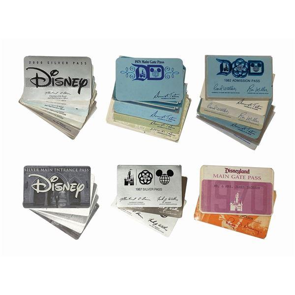Set of (44) Disneyland Annual Main Gate Passes.