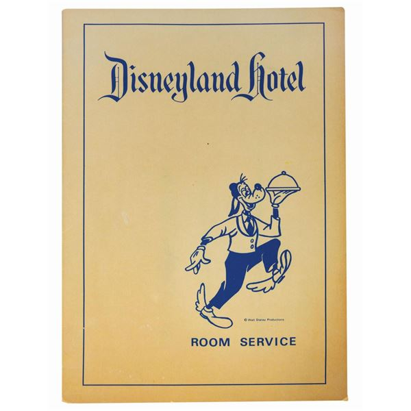 Disneyland Hotel Room Service Menu.