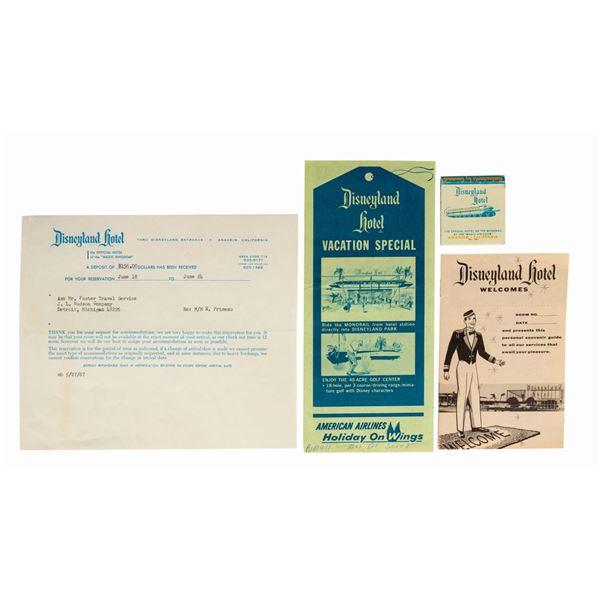 Hotel Deposit Slip, Matchbook Cover, and (2) Brochures.