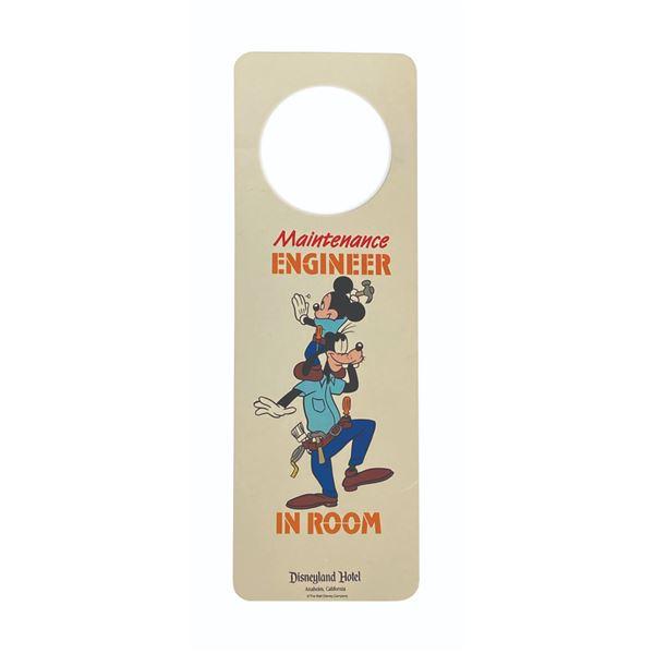 Disneyland Hotel Maintenance Door Hanger.