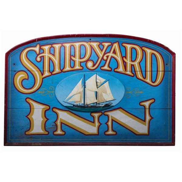 Shipyard Inn Restaurant Sign.