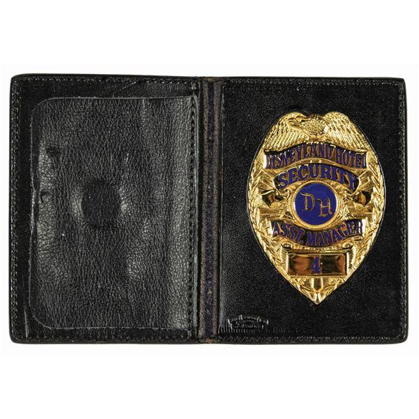 Disneyland Hotel Security Assistant Manager #4 Badge.
