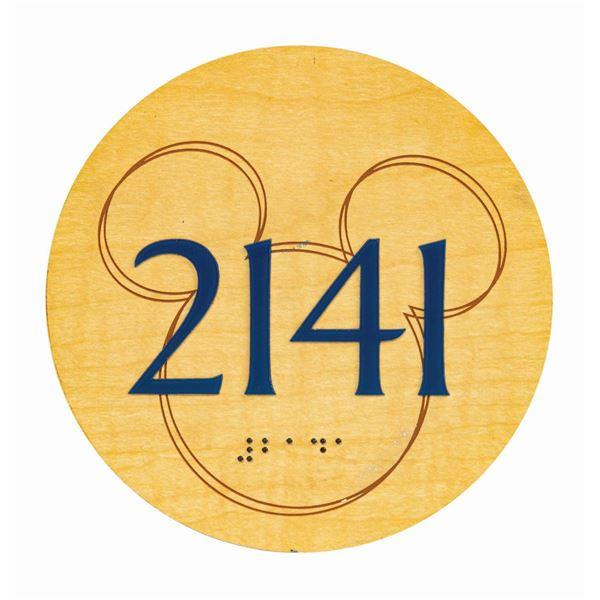 Disneyland Hotel Room Number Plaque.