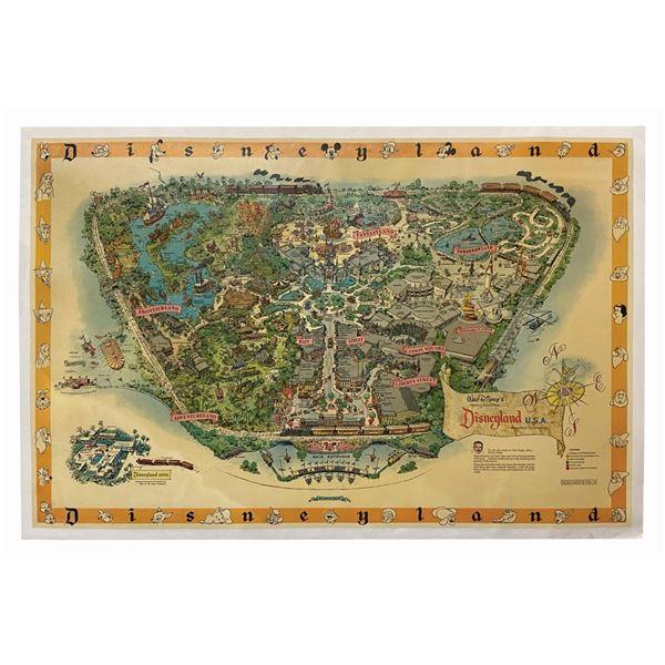 1958-A Disneyland Souvenir Park Map.