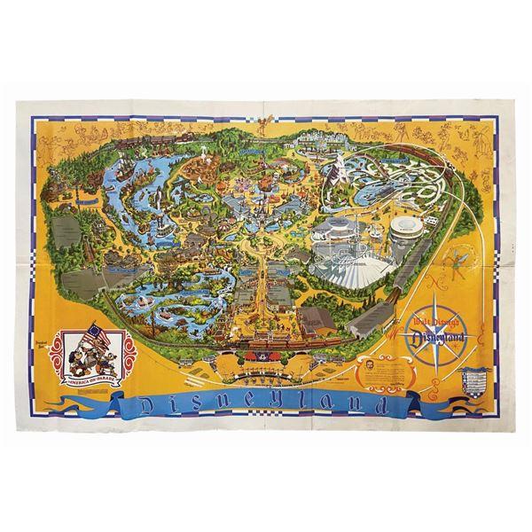 1975 Disneyland Souvenir Map.