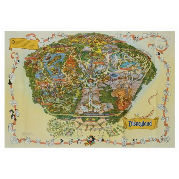 1999 Disneyland Souvenir Map.