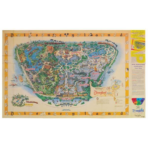 45th Anniversary 1958-A Map Signed by Sam McKim.