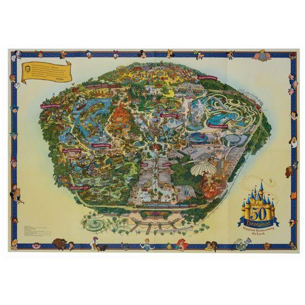 Disneyland 50th Anniversary Park Map.