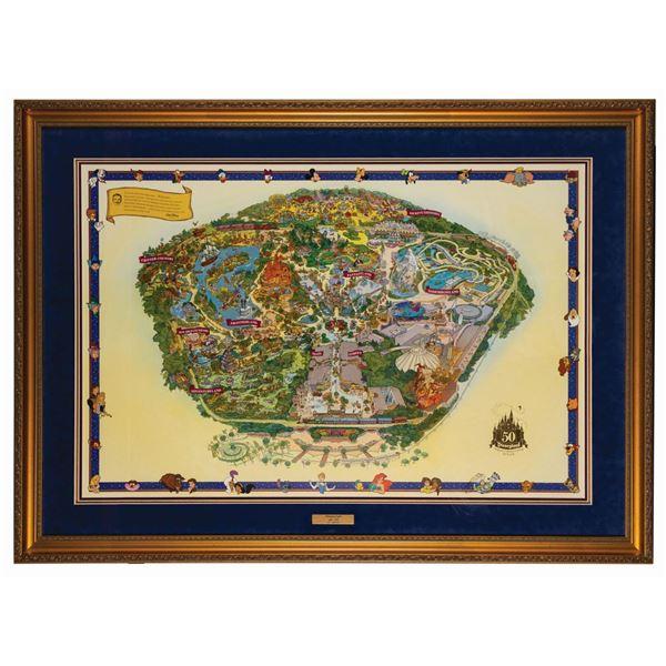 Disneyland 50th Anniversary Limited Edition Map.
