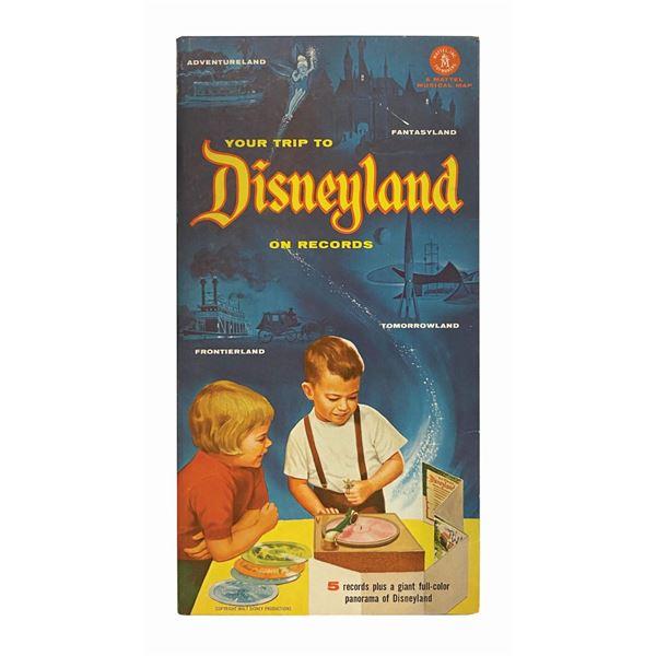 """Your Trip to Disneyland"" Souvenir Record Map."