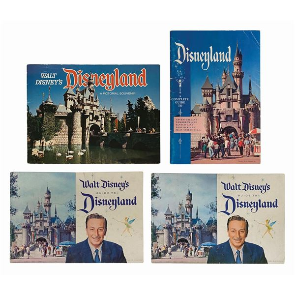 Collection of (4) Disneyland Souvenir Guides.