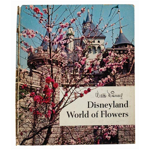 Disneyland World of Flowers Hardcover Book.