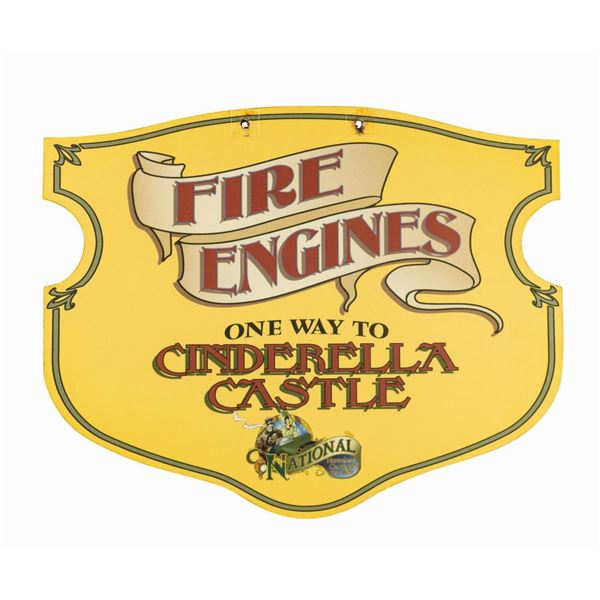 Fire Engines to Cinderella Castle Main Street Sign.