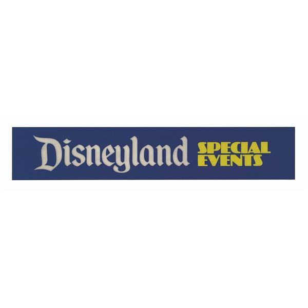 Milt Albright's Disneyland Special Events Park Sign.