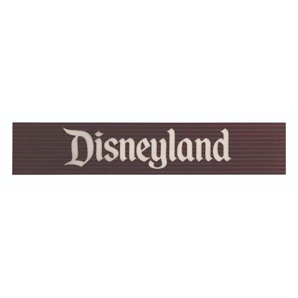 Milt Albright's Disneyland Park Sign.