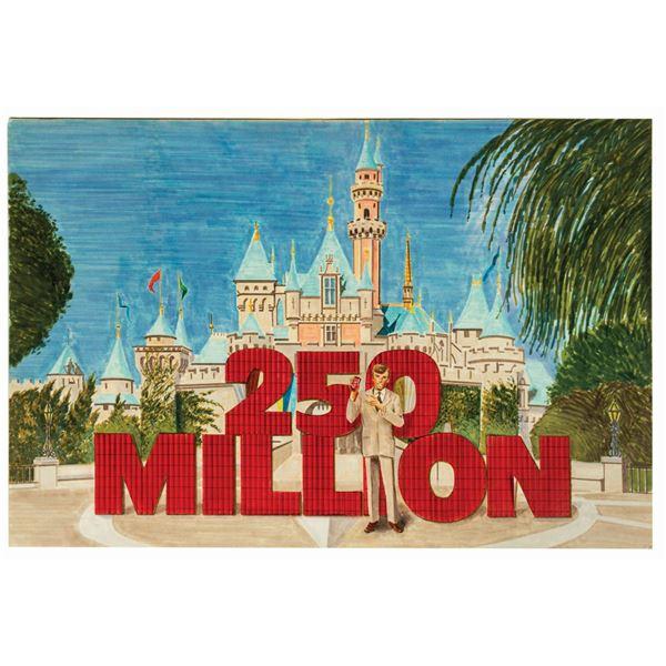 Disneyland Original Coca Cola Advertisement Artwork.