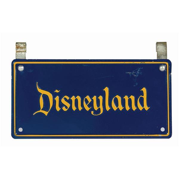 Park-Used Disneyland Stroller License Plate.