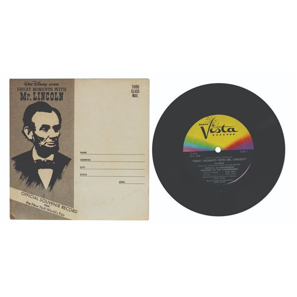 Great Moments with Mr. Lincoln World's Fair Record.