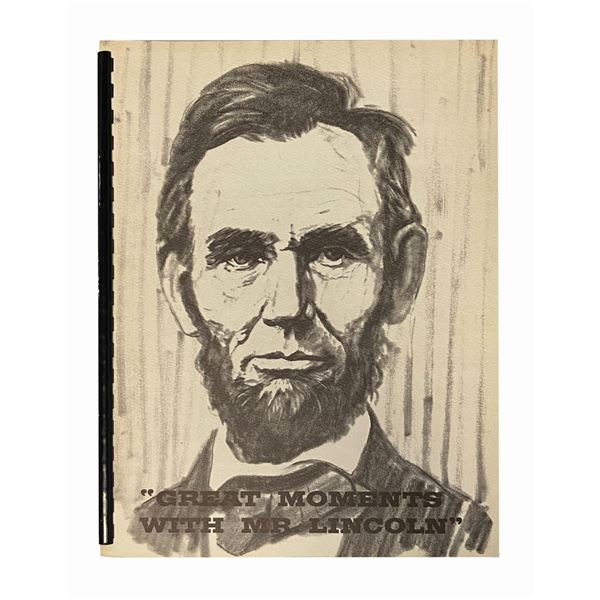 Great Moments with Mr. Lincoln Training Manual.