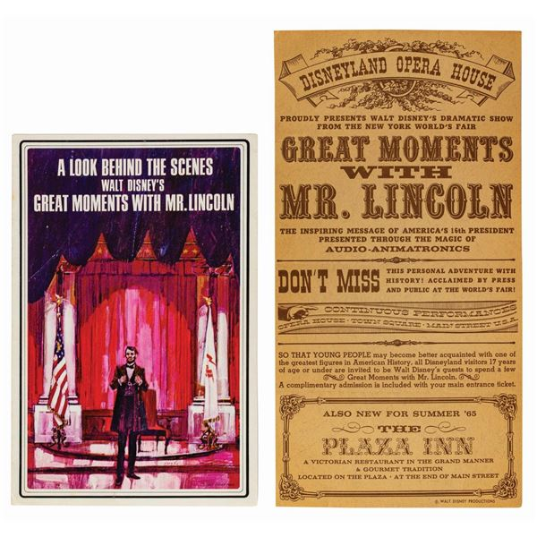 Great Moments with Mr. Lincoln Handbill & Brochure.