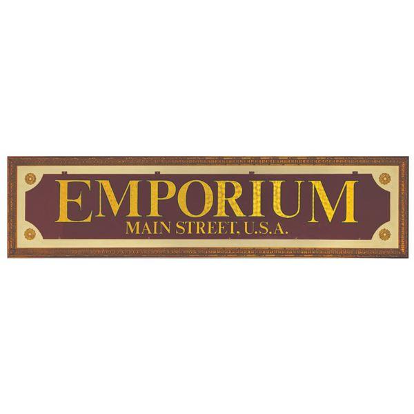 Main Street Emporium Entrance Sign.