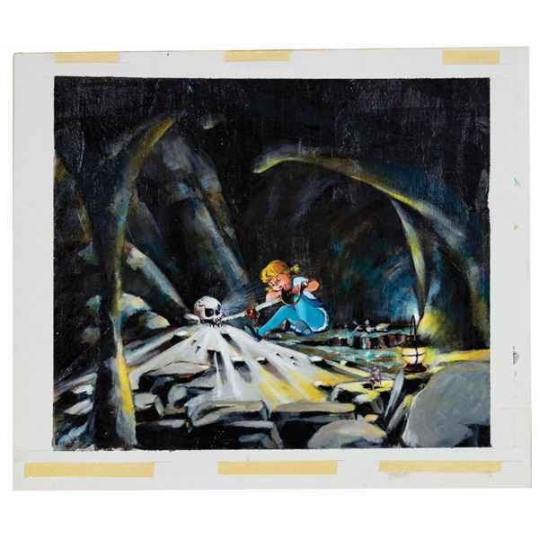 The Rescuers Window Display Scene Concept Painting.