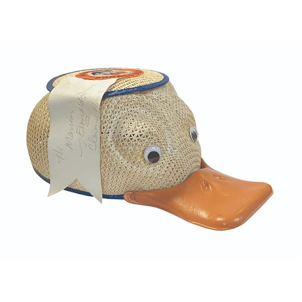 Clarence Nash Signed Donald Duck Squeaker Hat.