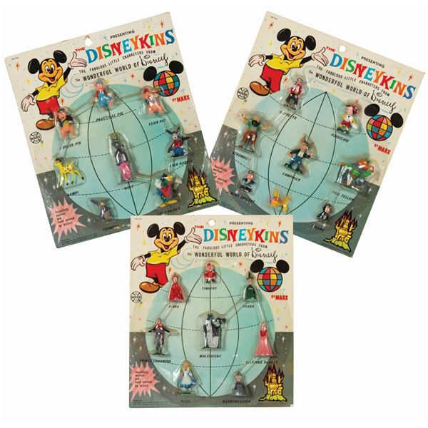 Collection of (3) Disneykins New on Card Sets.