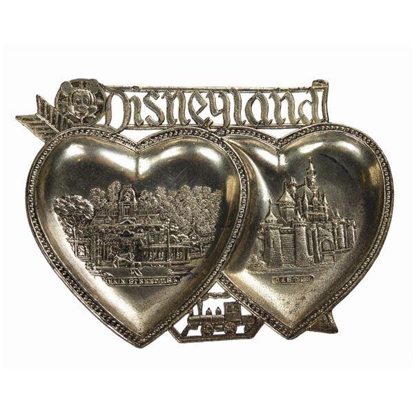 Disneyland Tin Double-Heart Tray.