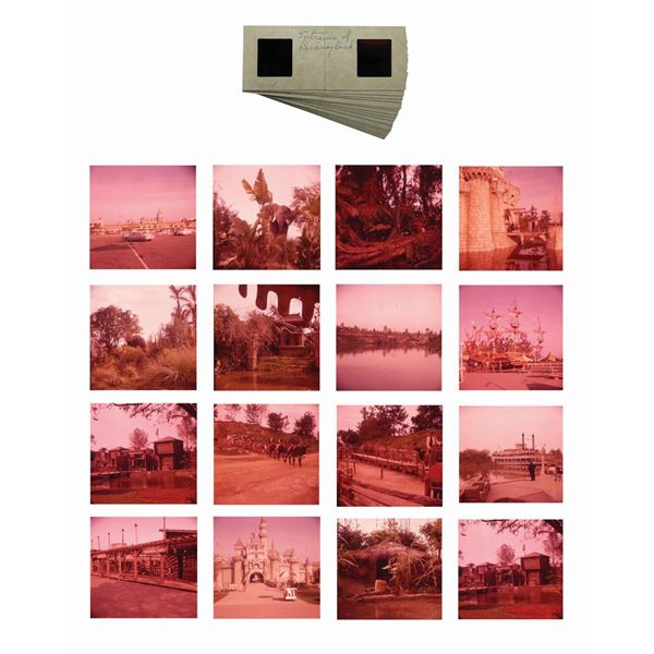 Collection of (16) Stereoscopic Disneyland Slides.
