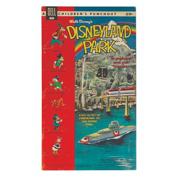 Walt Disney's Disneyland Park Punchout Book.
