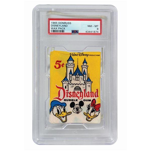 Unopened Wax Pack of Disneyland Donruss Trading Cards.