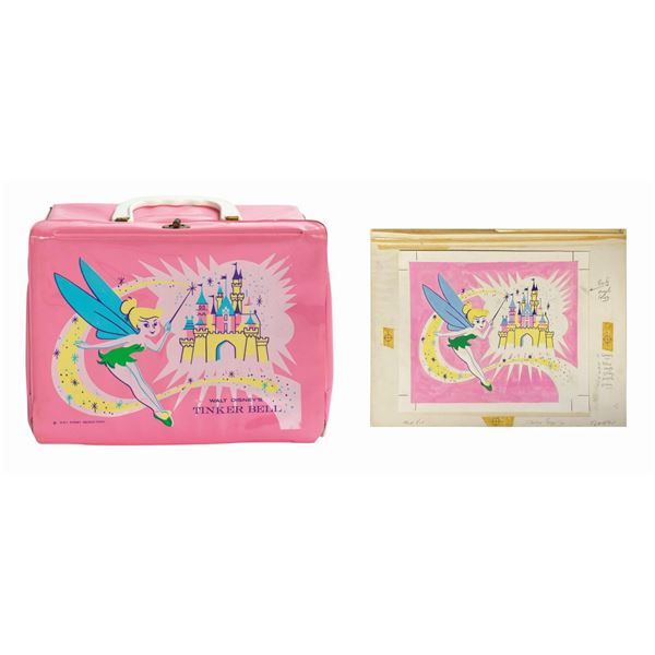 Tinker Bell Disneyland Lunch Box Artwork and Lunch Box.