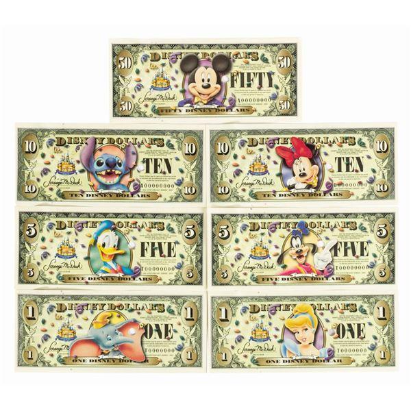 Disney Dollars 50th Anniversary Series Proof Set.
