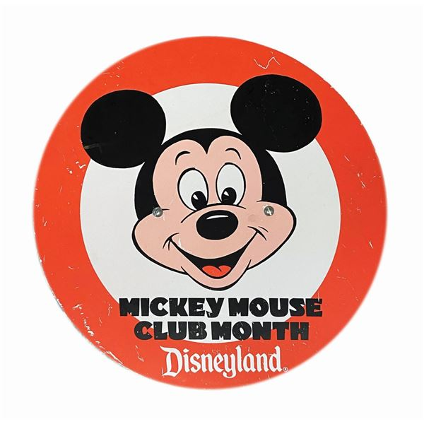 Mickey Mouse Club Month Logo Plaque.
