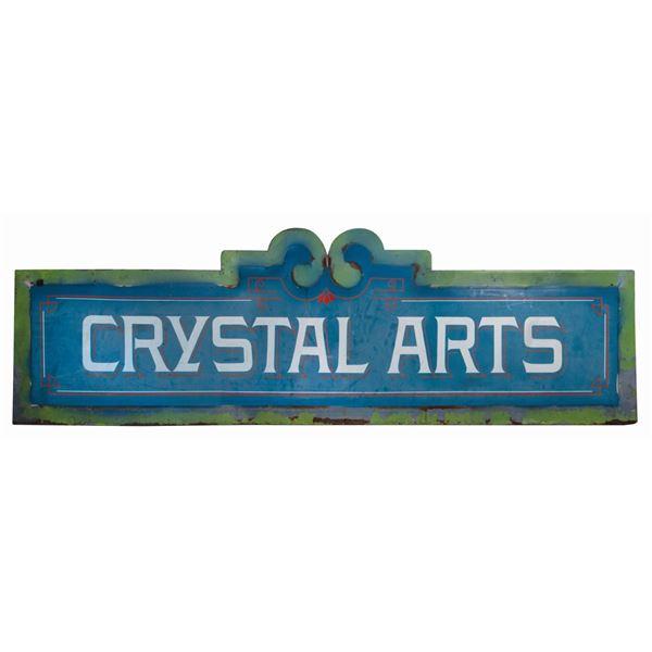 Crystal Arts Disneyland Main Street Entrance Sign.
